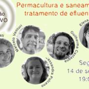 """Sessão ao vivo """"Permacultura e saneamento: tratamento de efluentes"""""""